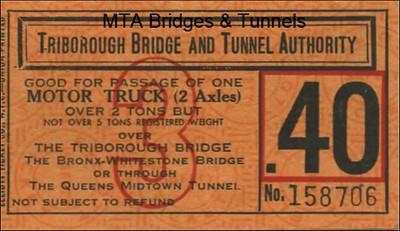 Triborough Bridge and Tunnel Authority ticket
