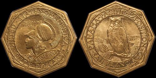 1915-S+Panama+Pacific+Octagonal+$50