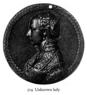 Medal of an unknown lady