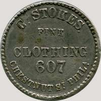 1858 Stokes Atlantic Cable token obverse