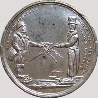 1858 Lovett Atlantic Telegraph token obverse