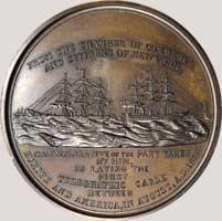 1858 New York Chamber of Commerce Medal bronze reverse