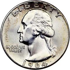 25c 1964 obverse