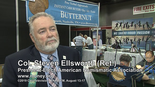 ANA President Steve Ellsworth sharing his vision of the numismatic future