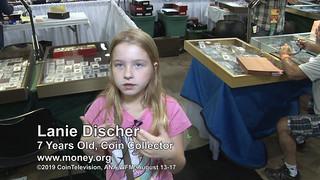 young numismatist Lanie Discher