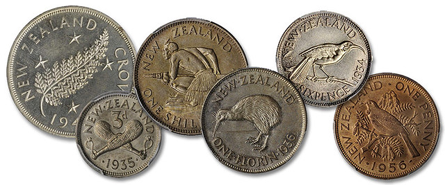 New Zealand sterling coinage