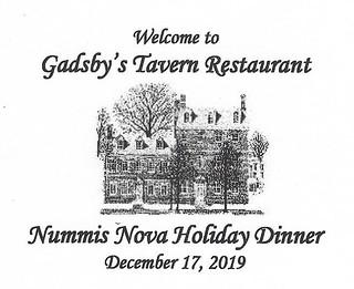 Nummis Nova 2019-12 Gadsby's Menu