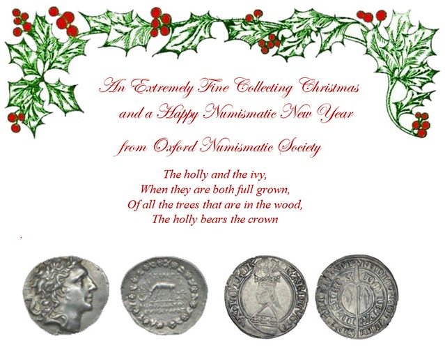 Oxford Numismatic Society Christmas 2019
