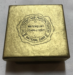 Citizens Nationsl Bank coin box lid