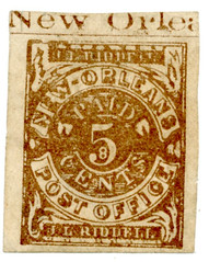 New Orleans Provisional five cent Confederate stamp