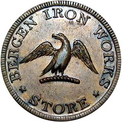 Bergen Iron Works Token obverse