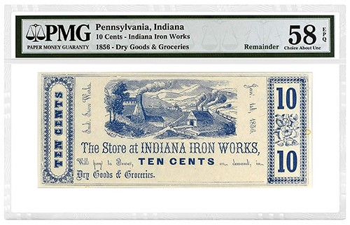 Indiana Iron Works scrip note