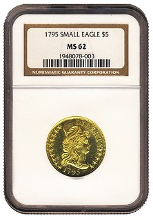 1795_Small_Eagle_$5_NGC_MS_62_Obv