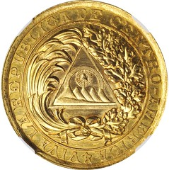 1890 Central American Union Pact Gold Medal obverse