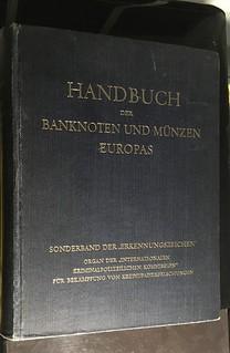 Handbuch der Banknoten und Munzen Europas