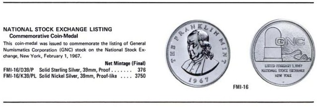 NC National Stock Exchange listing medal entry