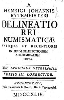 Delineatio rei numismaticæ cover