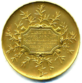 London exhibition medal reverse
