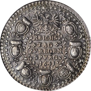 1641 Reichstag Medal reverse