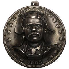 Theodore Roosevelt Repoussé Badge obverse