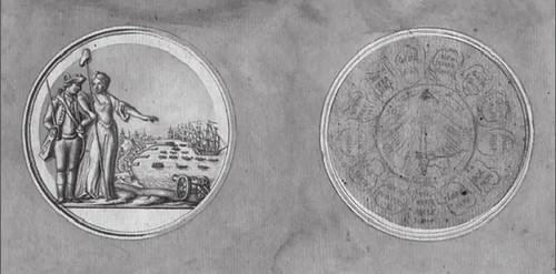 Du Simitière George Washington Before Boston medal sketch