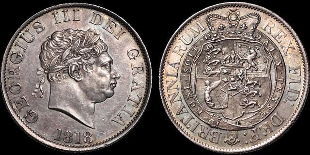 1818 George III Half Crown