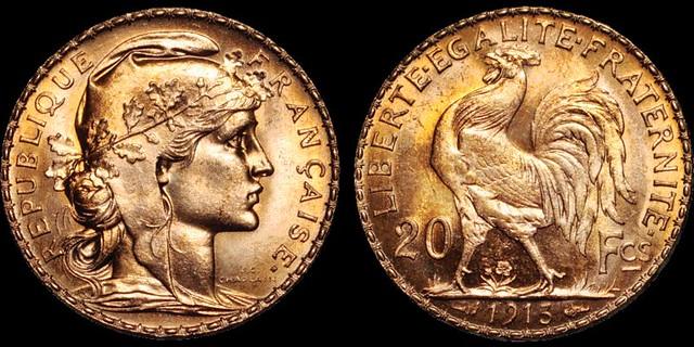1913 Franch 20 Francs