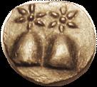 DIOSKOURIAS Caps of the Dioscuri coin obverse