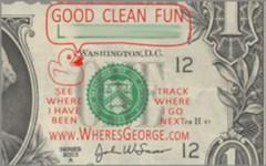 Where's George good clean fun stamp