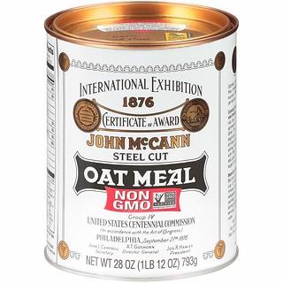 McCann's Steel Cut Oat Meal can