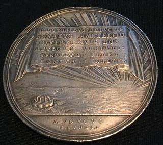 1696 Undertaker's Riot Medal reverse