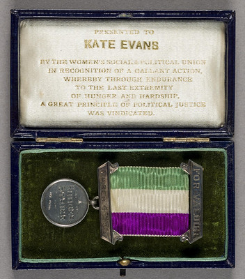 Kate Evans Hunger Strike medal in box