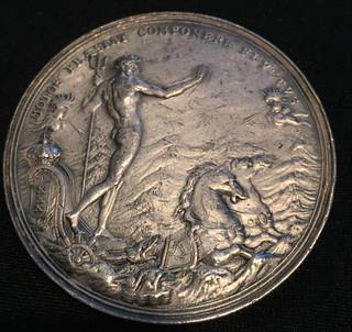 1696 Undertaker's Riot Medal obverse