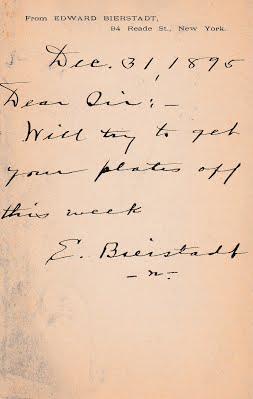 Bierstadt 1_1_1896 postcard to Chapmans