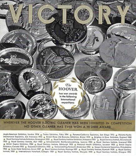 Hoover Elecgric Cleaner medal