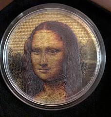 Micromosaic Mona Lisa coin