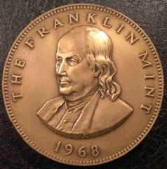 1968 Franklin Mint calendar medal obverse