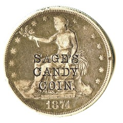cstp-Sage's Candy Coin $01.00 trade ex Brooklyn Sale q o