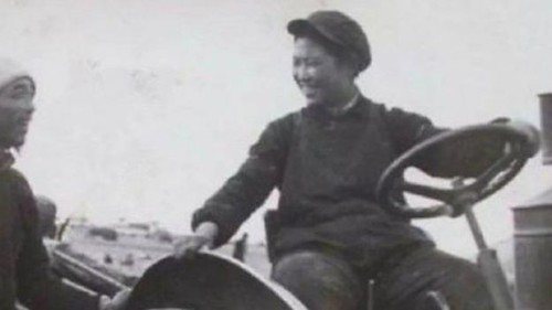 Iconic Chinese Woman Tractor Driver Liang Jun