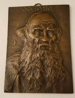 Leo Tolstoy Plaque by Flanagan
