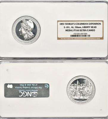 World's Columbian Exposition Liberty Head Medal NGC PF 66 Ultra Cameo