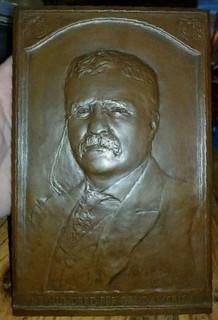 Teddy Roosevelt 100 Per Cent American Plaque