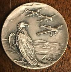 Aero club del Uruguay medal obverse