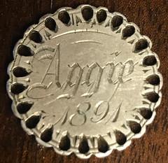 1891 25c love token reverse