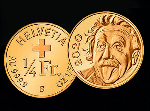 Einstein smallest coin