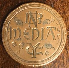 1848 Large Cent NBC Media NY reverse