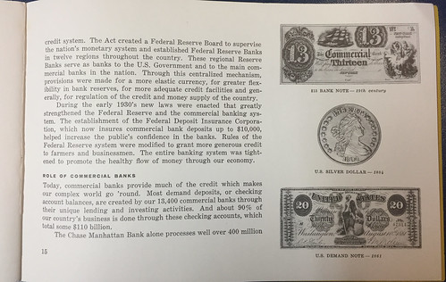 Chase Manhattan Bank Story of Money pamphlet 3