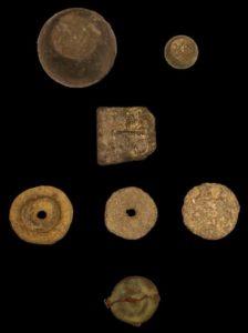 Byzantine coins found in the church of El Monastil in Spain
