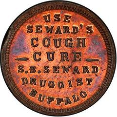 Seward's Cough Cure token reverse
