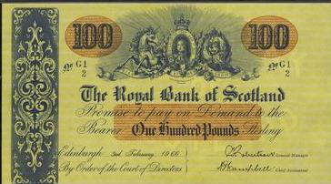 1966 Bank of Scotland 100 Pound Banknote